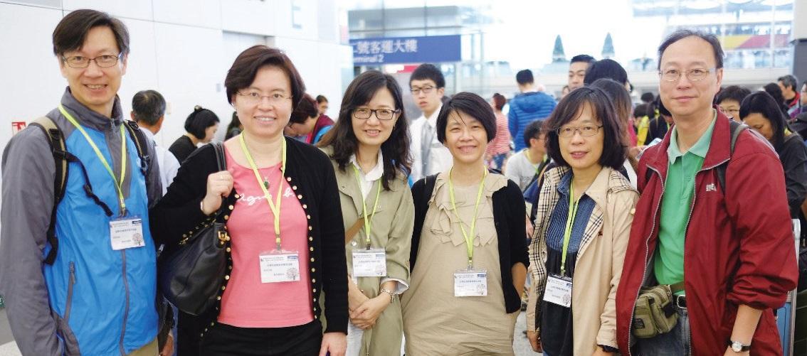 本年4 月林美儀校長( 左二) 與同工往台北參與生命教 育考察團。