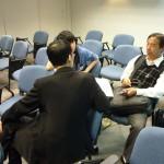 工作坊結束後,與會者繼續查詢及討論iCampus 家校通服務的功能和用途。