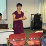 明報教育產品策劃經理陳翠賢女士向與會者介紹iRead閱讀文化平台