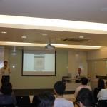 明報教育產品經理陳國樑先生向與會者介紹一站式學校網站管理系統