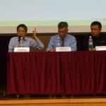 嘉賓劉進圖先生向參加者分析學生與官員對話,並提供建議活動