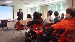 講座開始, 劉進圖先生 (明報教育出版有限公司營運總監) 致歡迎詞