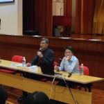 講座嘉賓﹕何滿添先生(佛教善德英文中學校長)、劉進圖先生(明報教育出版有限公司營運總監)