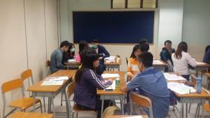 教學助理老師一齊討論職業傾向性問題