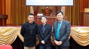 講座嘉賓:  鄧飛先生 (將軍澳香島中學校長、香港教育工作者聯會主席)、 劉進圖先生(明報教育出版有限公司營運總監)、 何滿添先生(佛教善德英文中學校長)